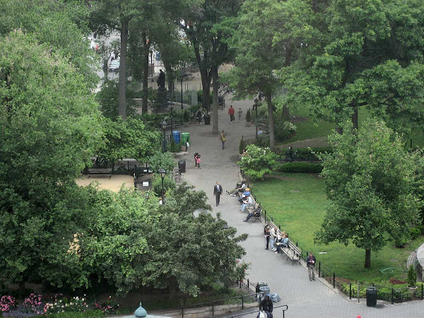 Best Basement View - Summertime view of Union Square from the window of Filene's Basement on 14th St.