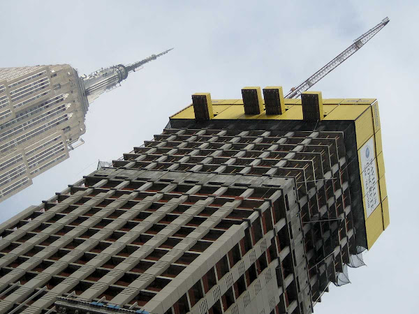 Yellow Top Skyscraper - When the condo tower at 5th Ave. and 36th St. was going up.