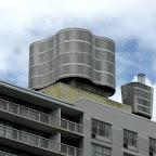 Modern Utility - Water/utility towers atop Washington Square Village.