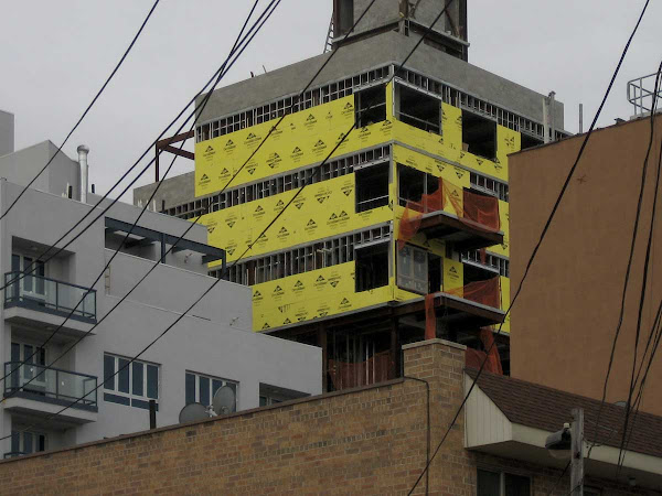Yellow Sheetrock Brute - On Skillman Ave. off Graham Ave. in Williamsburg.
