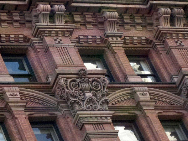 Potter's Red Closeup - The Potter Building on Park Row.