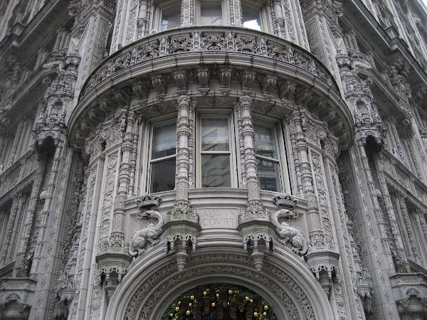 Alwyn Court Detail 1 - Note the pine cones & ornaments at the bottom; at 7th Ave. & 58th St.