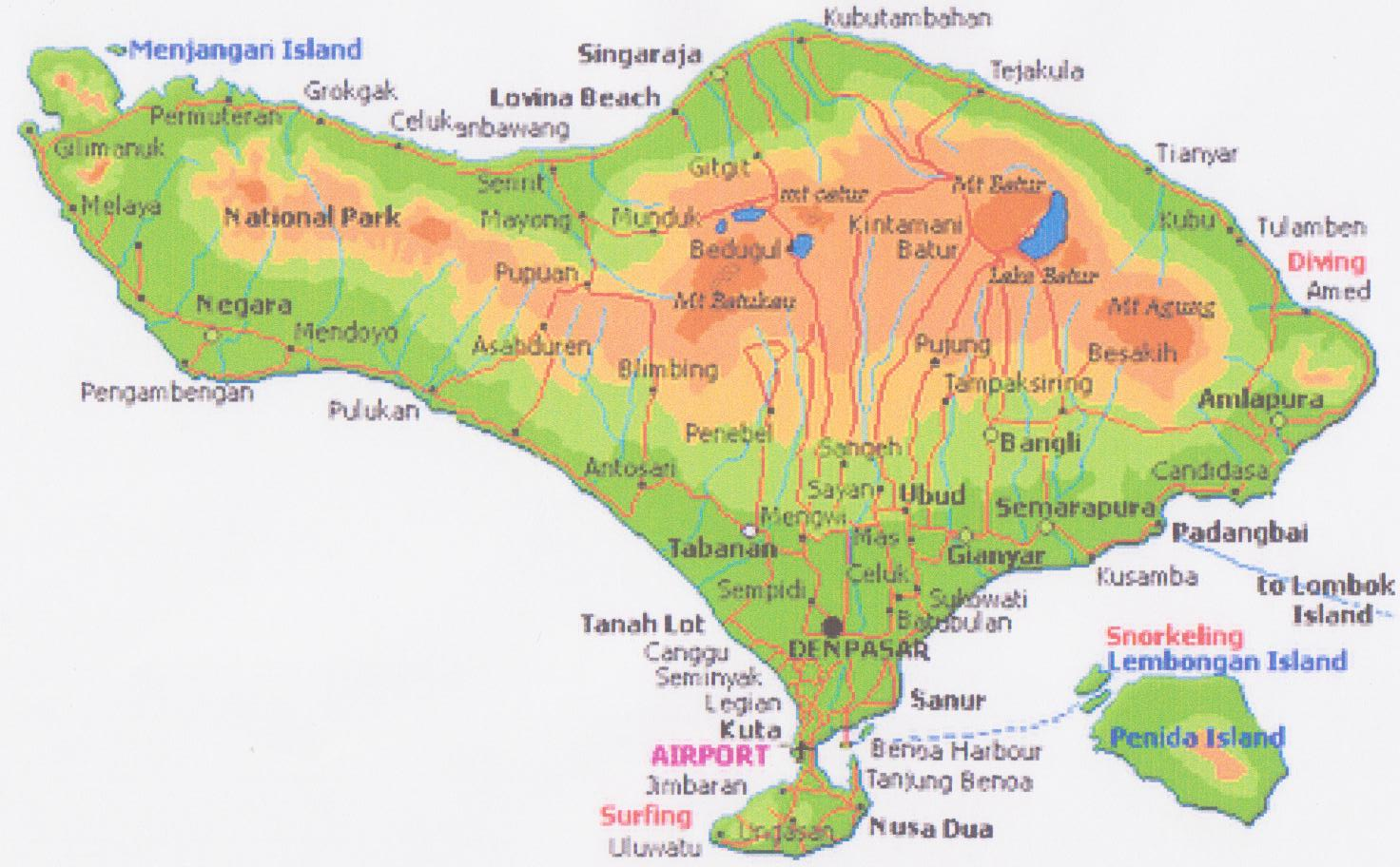 Business Map Peta Pulau Bali Bali Island Map Hot Girls Wallpaper