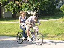 Kory and Keirsten testing the bike