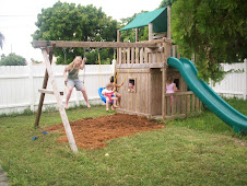 Kids playing in our back yard