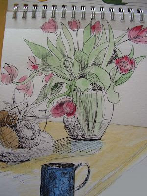tulip sketch by ruthie
