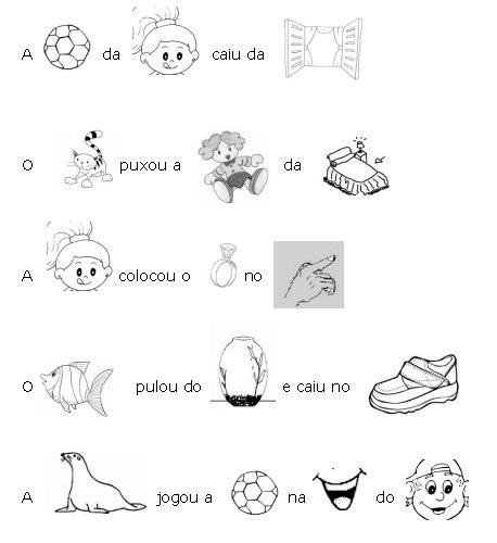 Educar Para Vencer Forme Frases Trocando Os Desenhos Por Palavras
