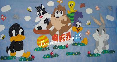 Para Festa De Anivers  Rio   Tema Looney Tunes Baby Feito De EVA