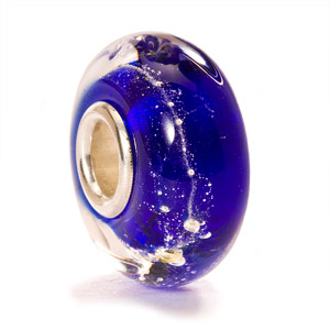 Retired Blue Glass and Silver Trollbead