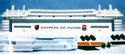 Maquete do estádio do Flamengo na Gávea