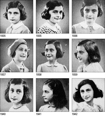 Anne Frank, her family,