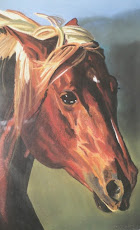 Portrait of Running Horse