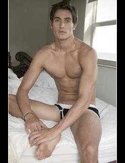 Brad  David in bed