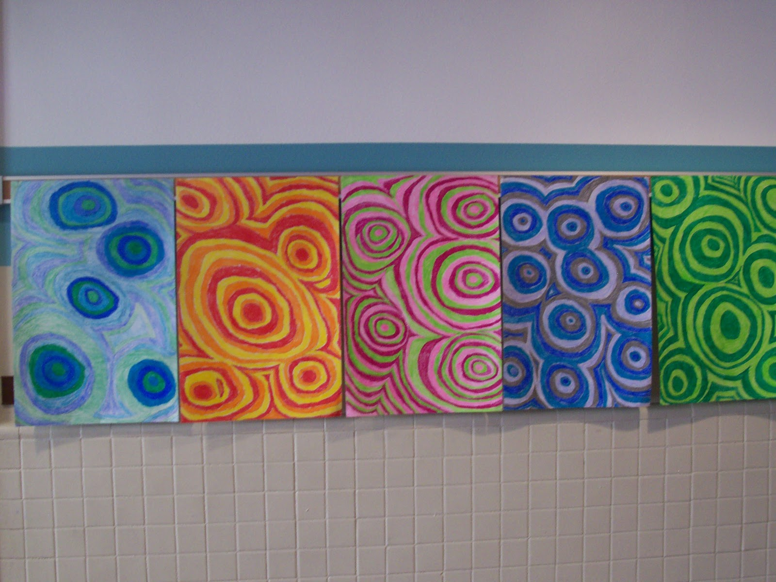 Irvington community middle school art radial designs 6th for Cool simple art projects
