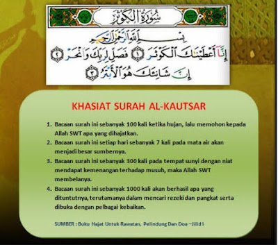 Khasiat Surah Al Kautsar