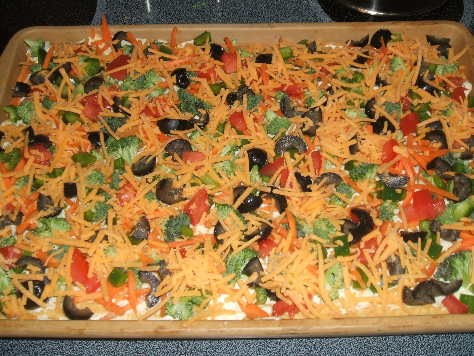 Veggie Pizza With Hidden Valley Ranch And Cream Cheese