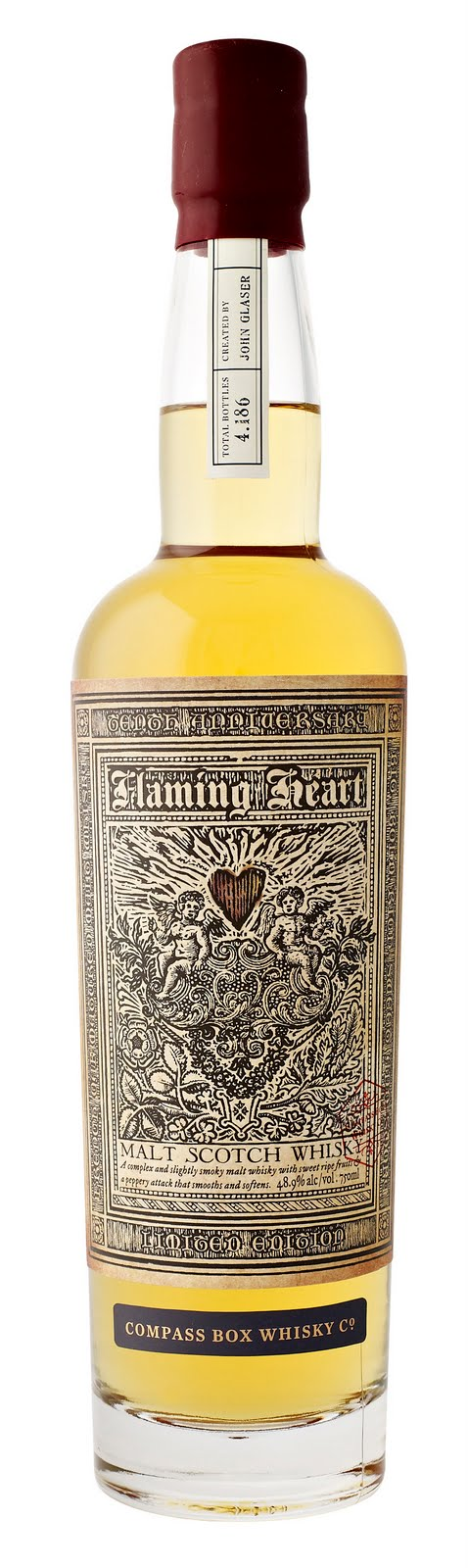 labelling heart. Flaming Heart – Compass Box
