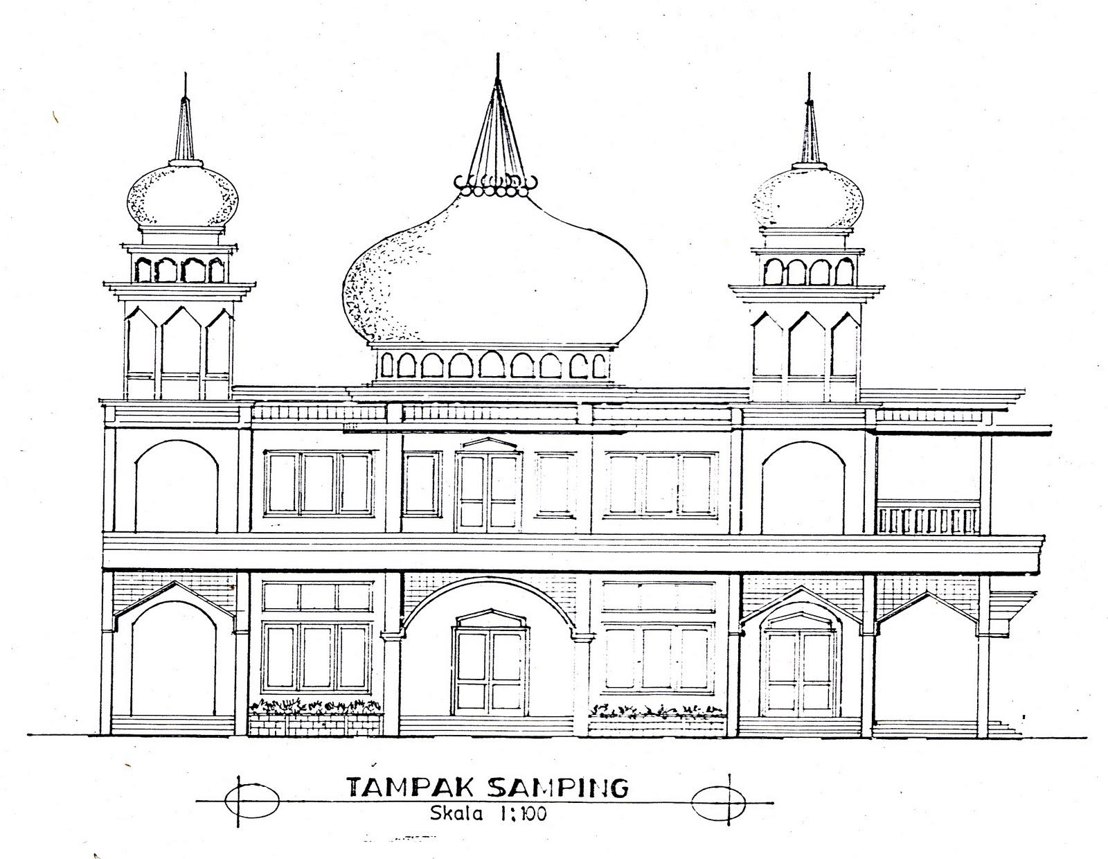 Download image Bisa Anda Perhatikan Sketsa Pembanguna Masjid Alhikmah ...