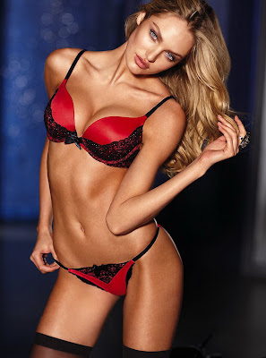 Candice Swanepoel hot lingerie cleavage