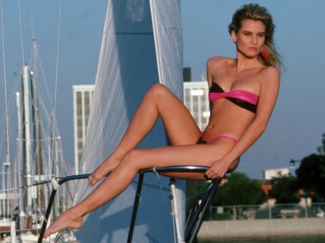 Nicollette Sheridan hot bikini Harry Langdon Photohoot