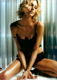 Tricia Helfer sexy see through nipple visible pokies DT Magazine