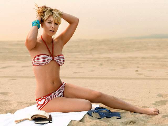 Kaley Cuoco Sexy Bikini Shoot Mens Health