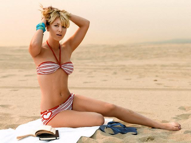 Kaley Cuoco Sexy Bikini Shoot Mens Health