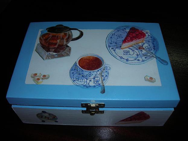 caixa de madeira pintadas