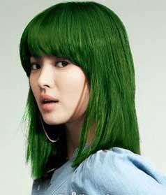rambut hijau