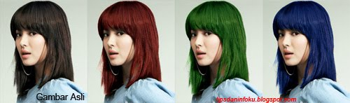 Tips Photoshop Pemula - Merubah Warna Rambut