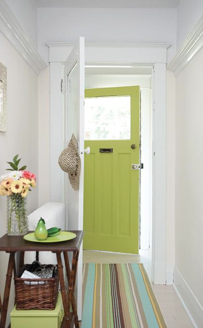 Bellevue And Rose Inspired By Lime Green Front Doors