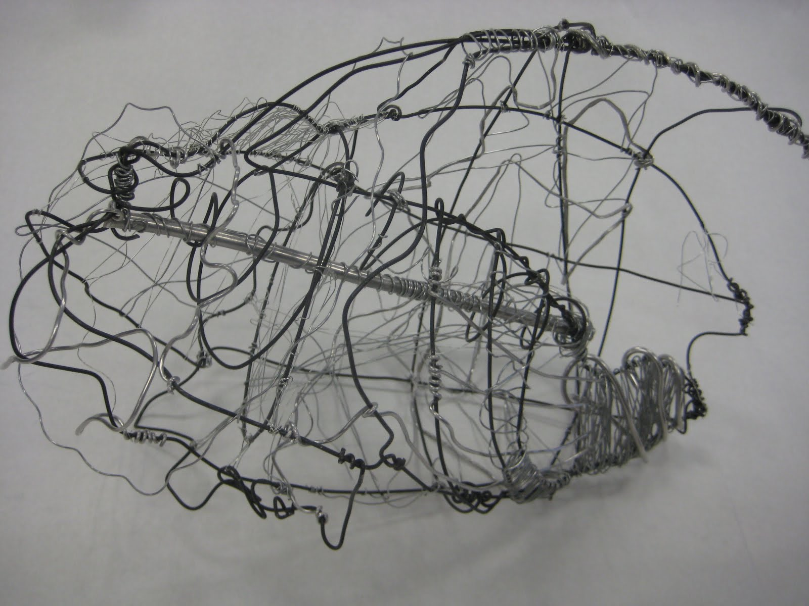 Way wac wa art wire sculpture a 3d drawing for 3d wire art