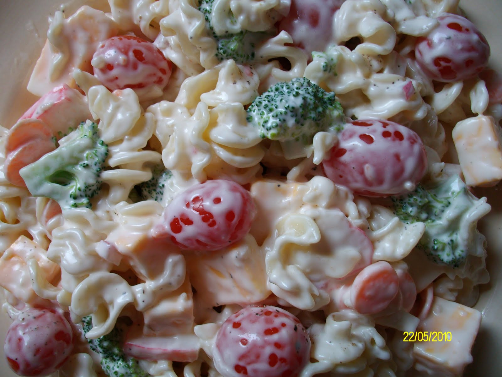 Domestic Goddess's Recipe Box: Pasta & Imitation Crab Salad