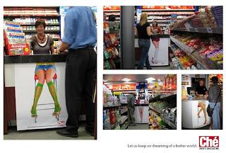 Descuido de minifalda, Publicidad Efectiva