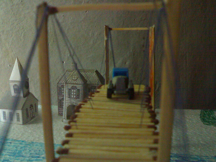 homemade suspension bridge 2