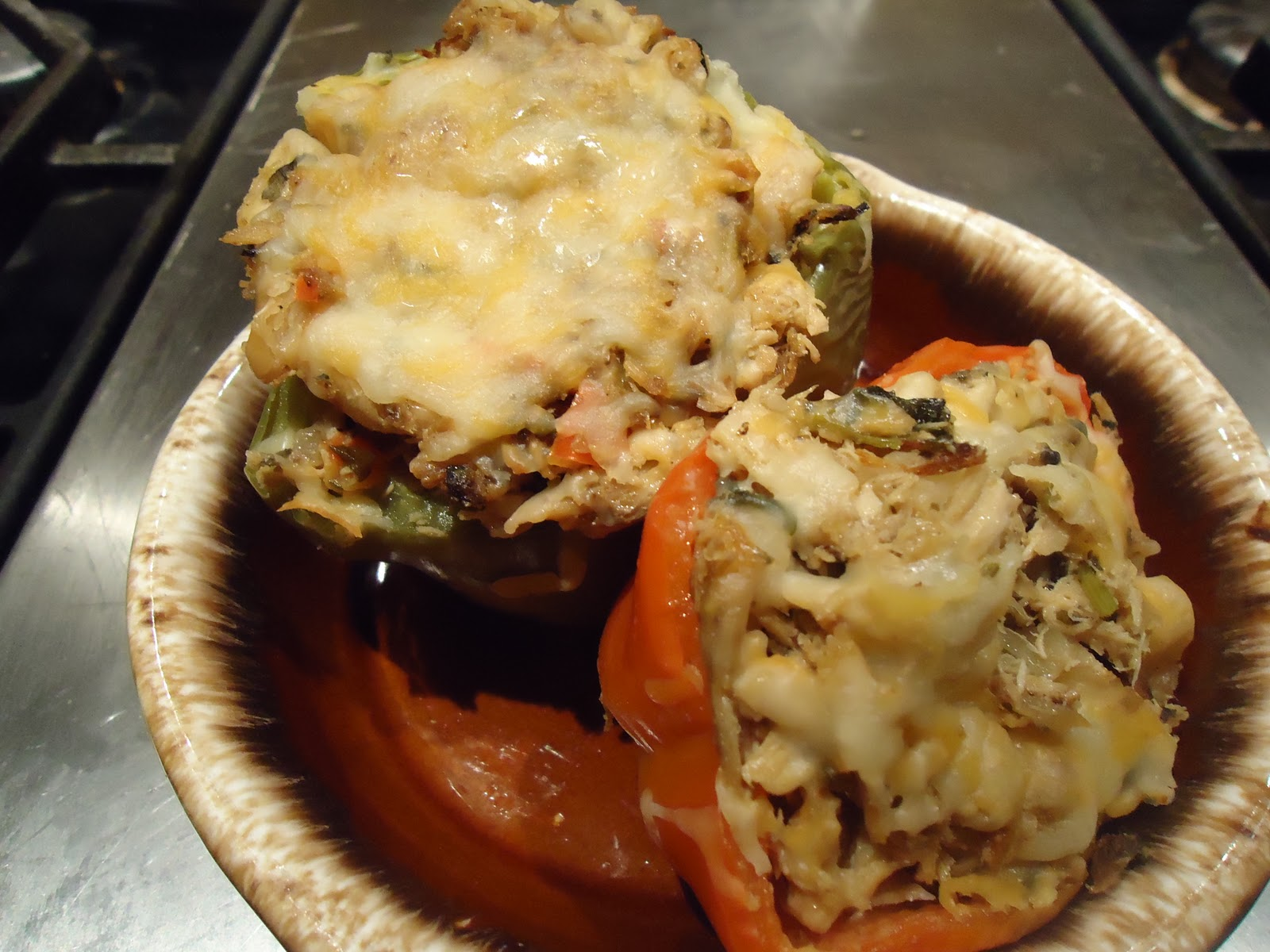 ... the Kitchen: Finally made it! Chicken and White Bean Stuffed Peppers