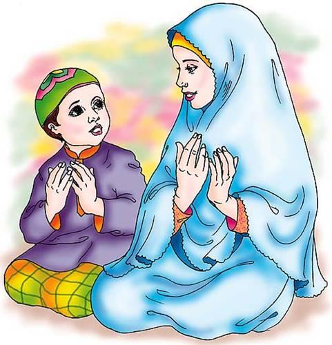 Gambar Animasi Muslim dan Muslimah