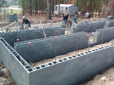 Container house foundation walls almost complete - Container home foundation ...