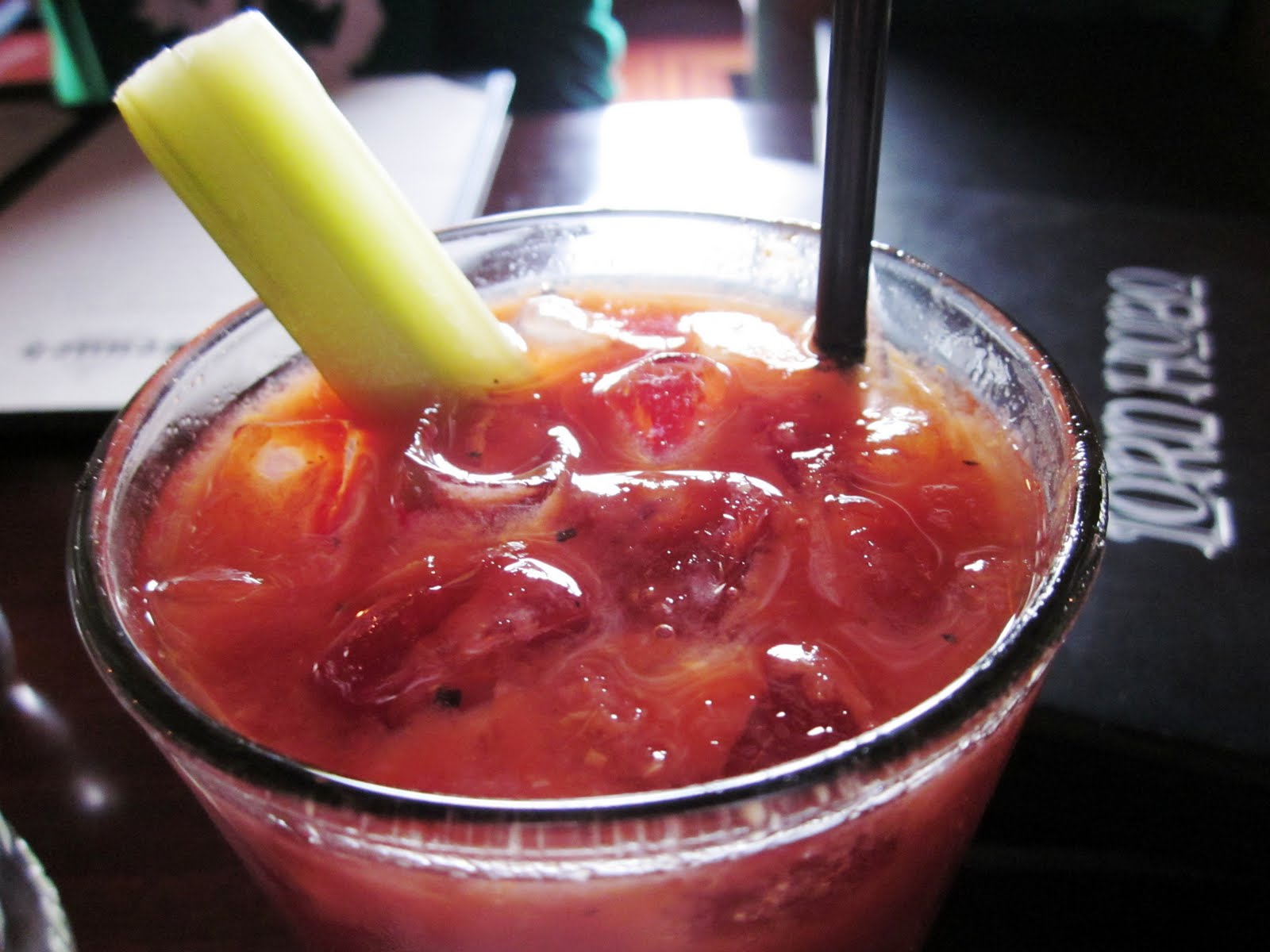 , that's no ordinary celery stick - it is actually a pickled celery ...