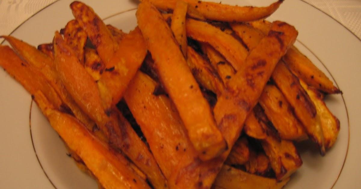 Les douces heures de vanille frites de patates douces au four - Frite de patate douce au four ...