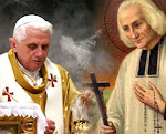 Pope Benedict XVI and St John Vianny