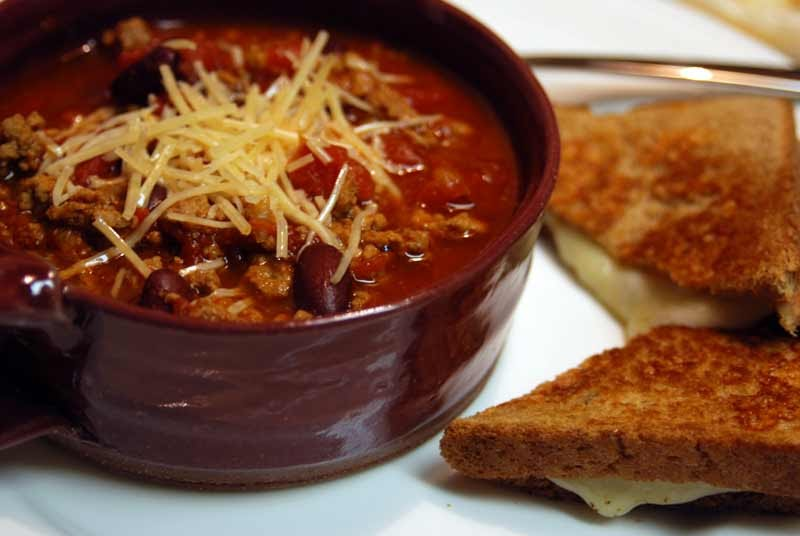 Turkey Chili and Extra Cheesy Grilled Cheese ~ micah and ...