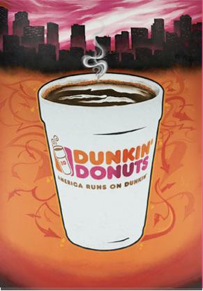 Dunkin Donuts Reveals  quot Street Art quot  Billboard in Times SquareDunkin Donuts Billboard