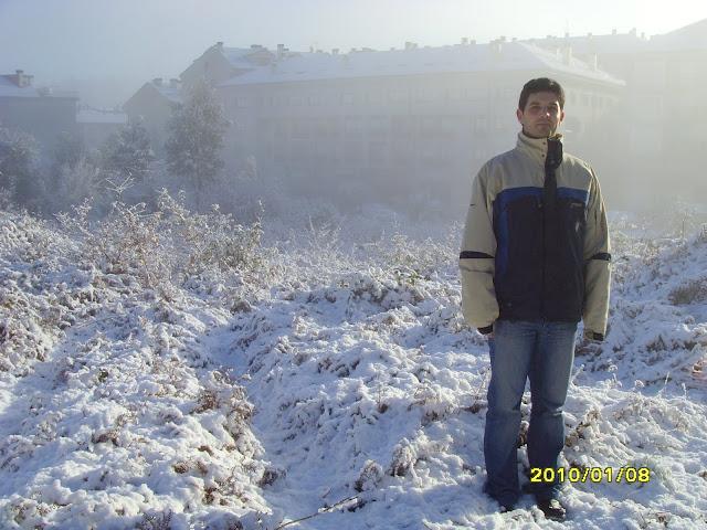 Gran nevada en Santiago de Compostela