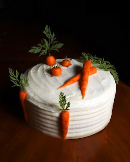 Carrot cake with carrot detail from Answers en Croute