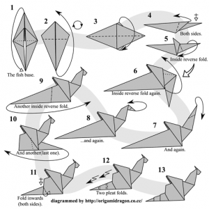 origami dragon diagram advanced juanribon  : origami dragon diagram advanced - findchart.co