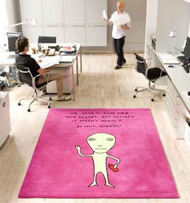 هيا كده hia keda: weird carpets and funny rugs