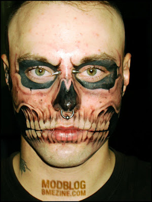 Amazing face tattoo.