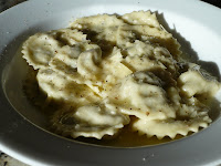 Goat Cheese and Spicy Sausage Ravioli. Homemade ...