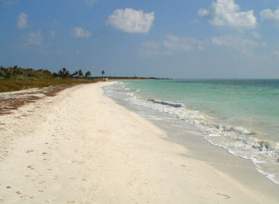 ... long stretch of beautiful beach in Bahia Honda State Park Florida USA